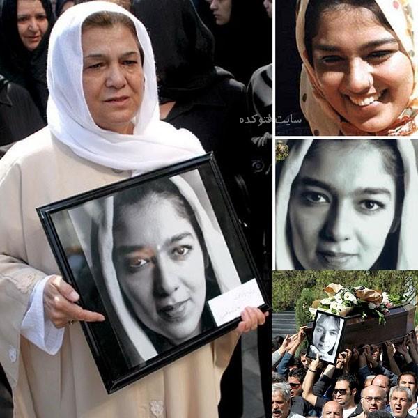 تشییع جنازه پوپک گلدره و مادرش