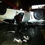 عکس تصادف پورشه در اصفهان