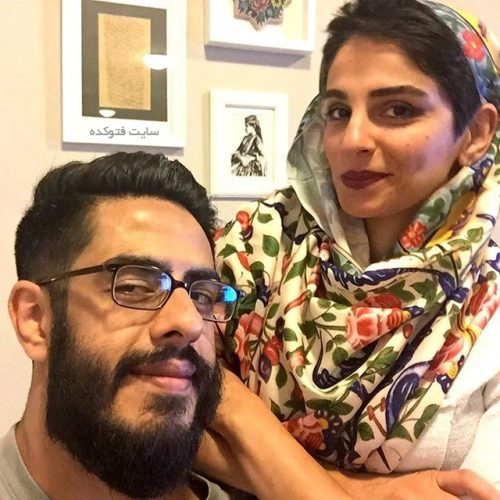 عکس پوریا شکیبایی و همسرش پریا