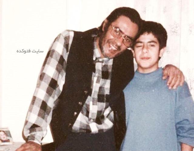 عکس خسرو شکیبایی و پسرش پوریا