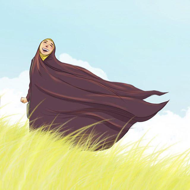 عکس پروفایل فانتزی دخترانه چادری با حجاب