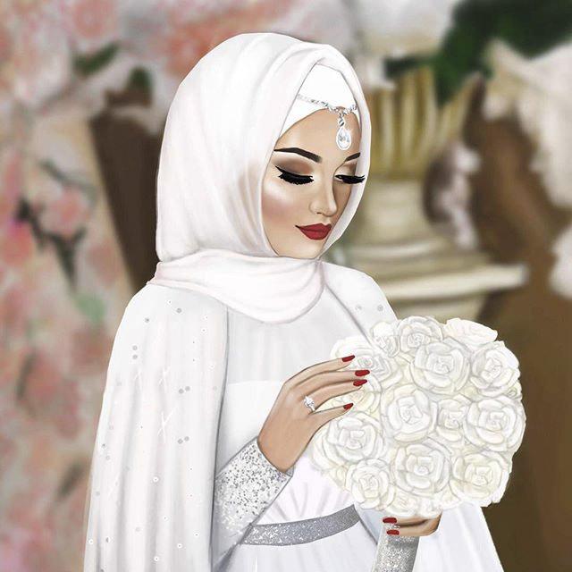 عکس پروفایل دخترونه فانتزی عروسکی در لباس عروس