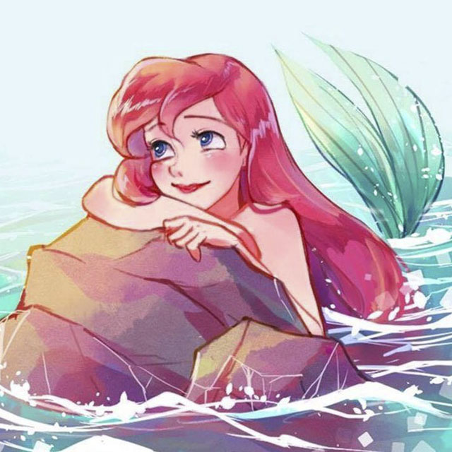 عکس پروفایل دخترونه فانتزی کارتونی جذاب پری دریایی