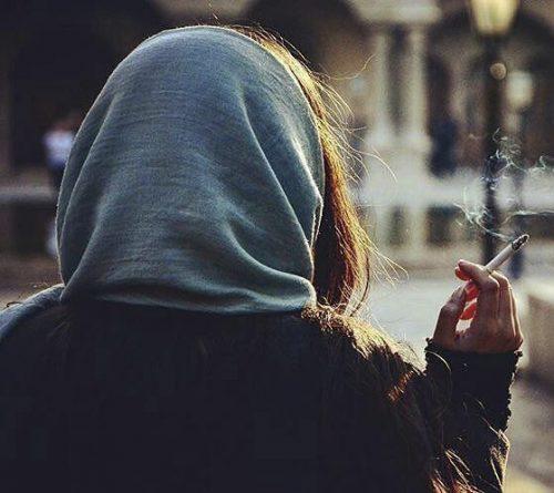 عکس پروفایل دخترونه غمگین سیگاری