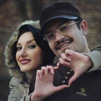 عکس و بیوگرافی پیمان طالبی مجری و همسرش ندا مصابح