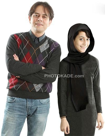 عکس رحیم نوروزی و دخترش پناه نوروزی