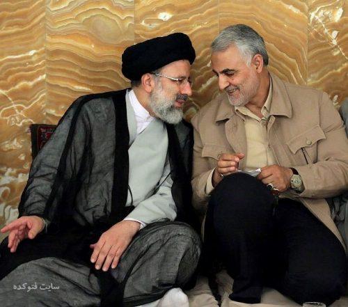 عکس ابراهیم رئیسی و قاسم سلیمانی + بیوگرافی