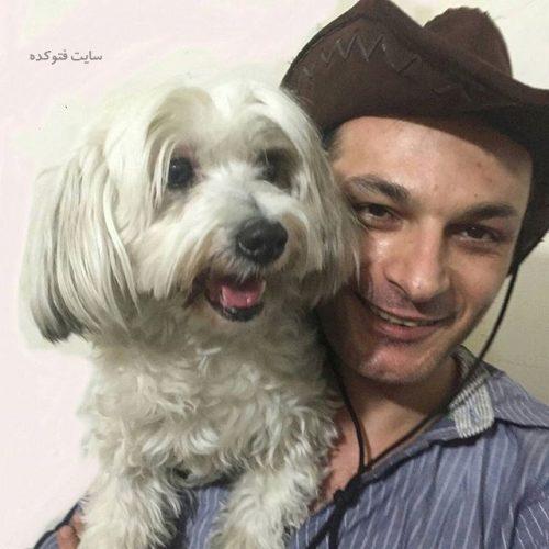 عکس رامین پرچمی و سگش + بیوگرافی کامل