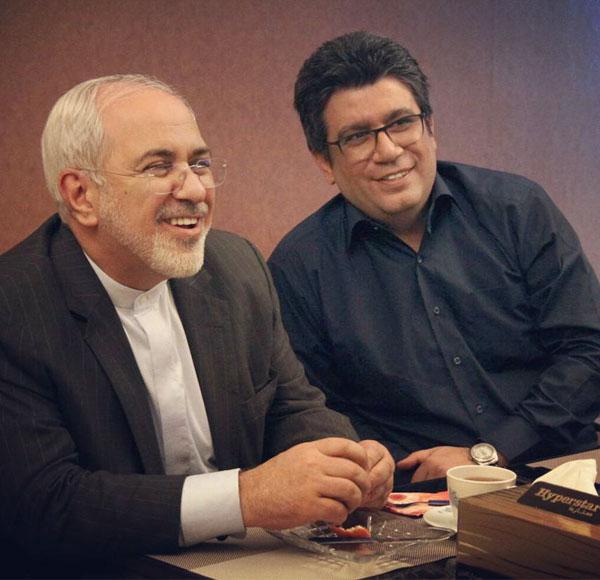 عکس رضا رشیدپور در کنار دکتر جواد ظریف و فعالیت های سیاسی اش