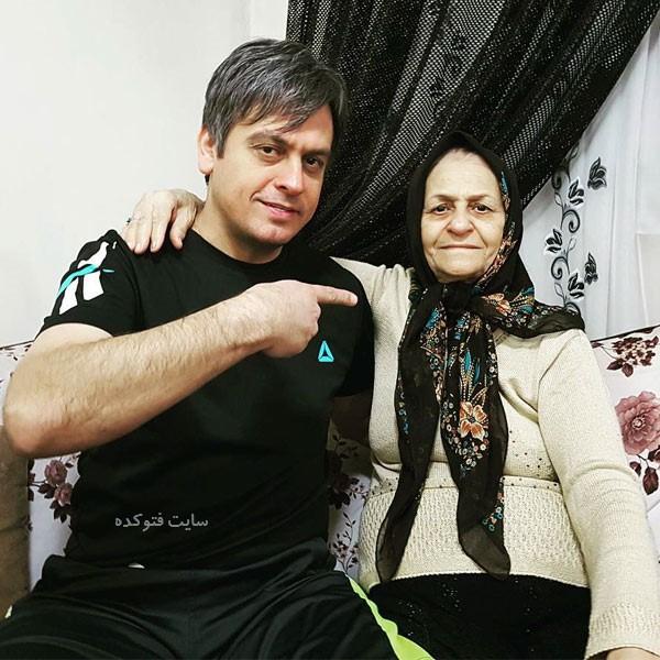 رضا شاهرودی فوتبالیست و مادرش + بیوگرافی