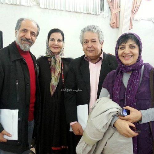 عکس رضا فیاضی و همسرش در کنار بازیگران معروف