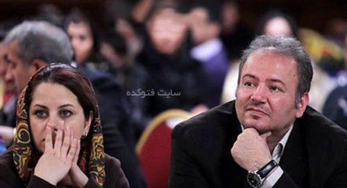رضا جاودانی و همسرش