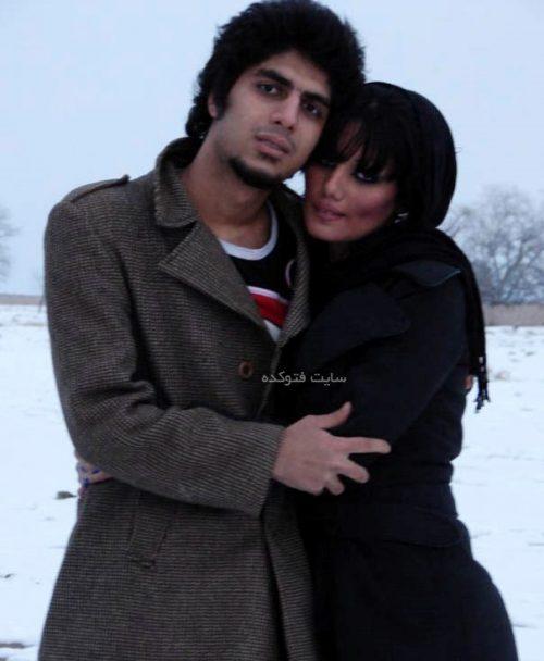 رضا پیشرو و همسرش فرزانه پورمحمدی