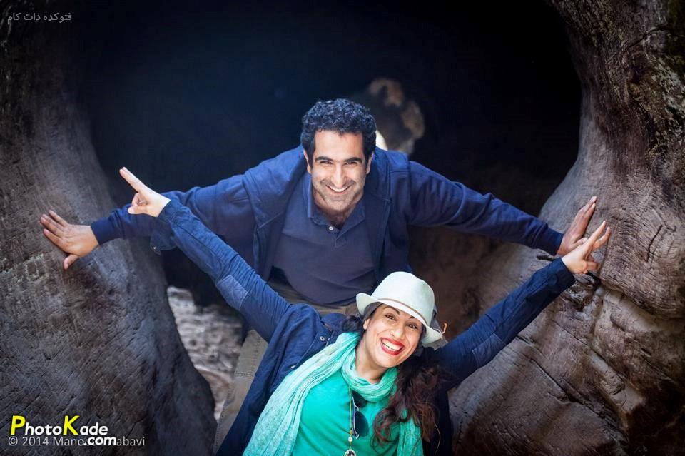 رضا روحانی و همسرش سارا نائینی
