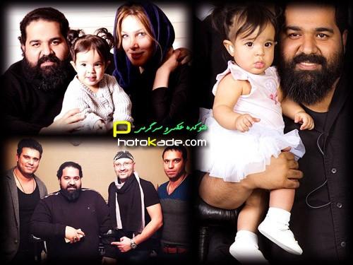 عکس رضا صادقی با همسر و دخترش