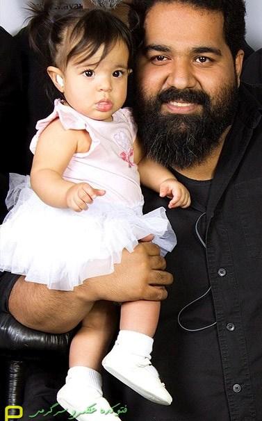 عکس رضا صادقی و دختر خوشگلش