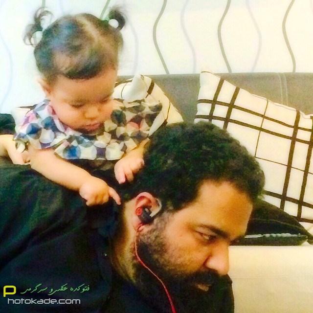 عکس رضا صادقی و دخترش