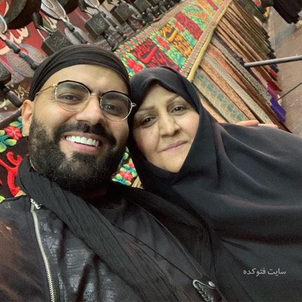 عکس رضا شیری خواننده و مادرش