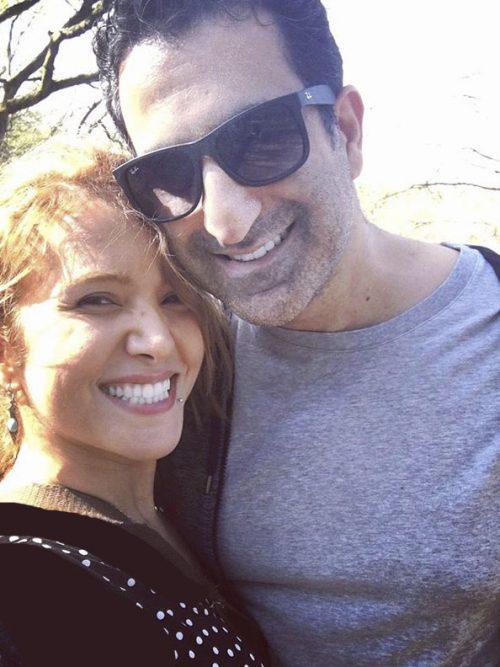 عکس رضا روحانی و همسرش فرانک سلیمانی
