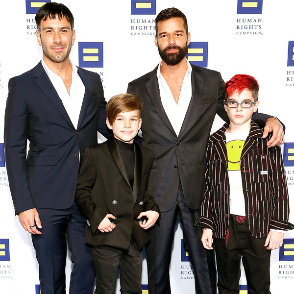 Ricky Martin در کنار فرزندان
