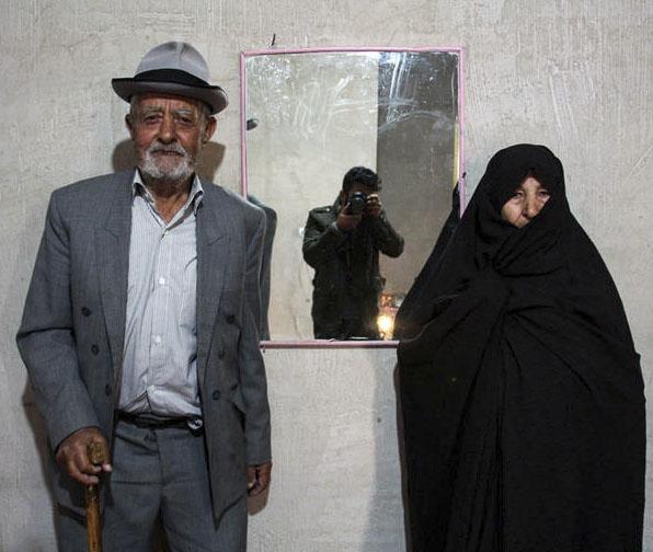 عکس ریزعلی خواجوی و همسرش + بیوگرافی