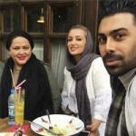 روناک یونسی و همسرش مهمان بهاره رهنما