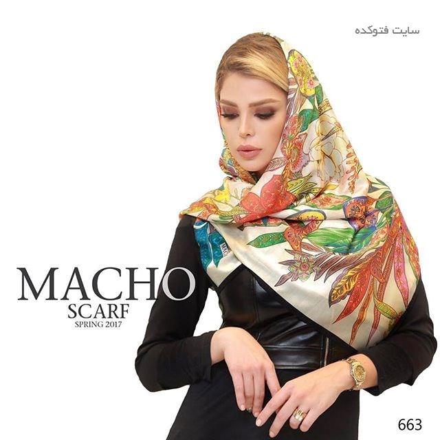 طرح زیبا شال برای عید نوروز 96 برند macho