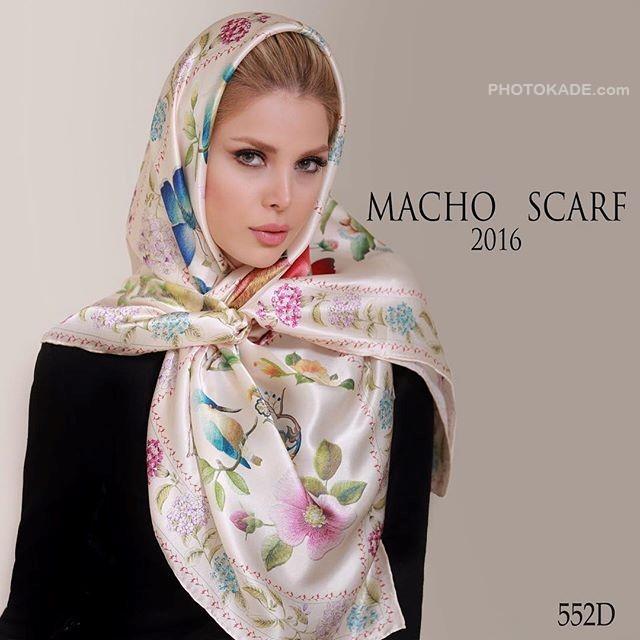 عکس مدل بستن روسری شالی