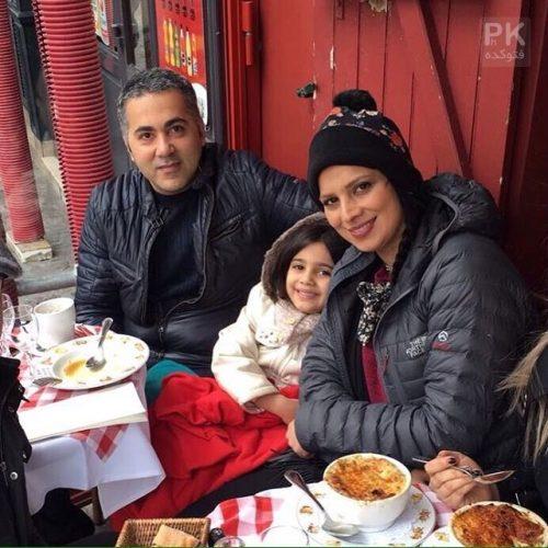 عکس روشنک عجمیان و همسرش مهریار حمیدی + دخترش