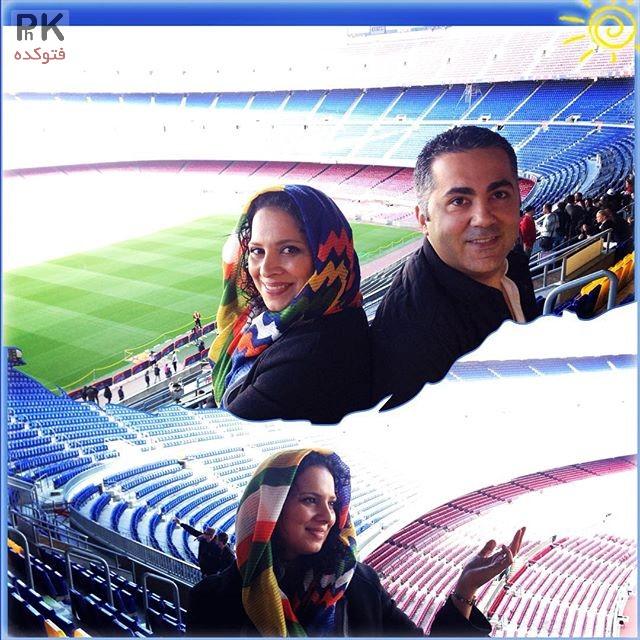 عکس روشنک عجمیان و همسرش مهریار حمیدی در خارج از کشور