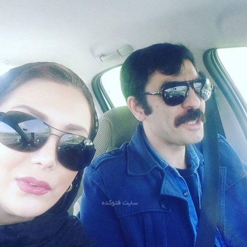 رویا میرعلمی و همسرش حسین کیانی