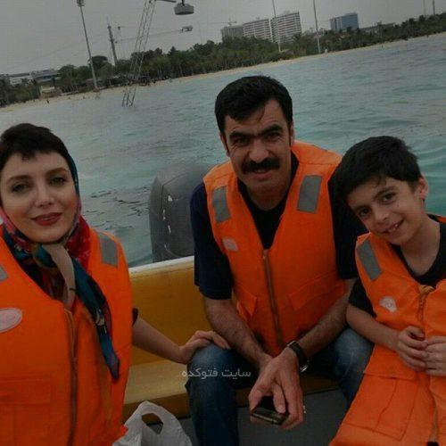 خانواده رویا میرعلمی با همسر و پسرش کارن