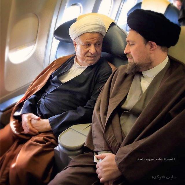 عکس سید حسن خمینی و مرحوم هاشمی رفسنجانی + زندگینامه