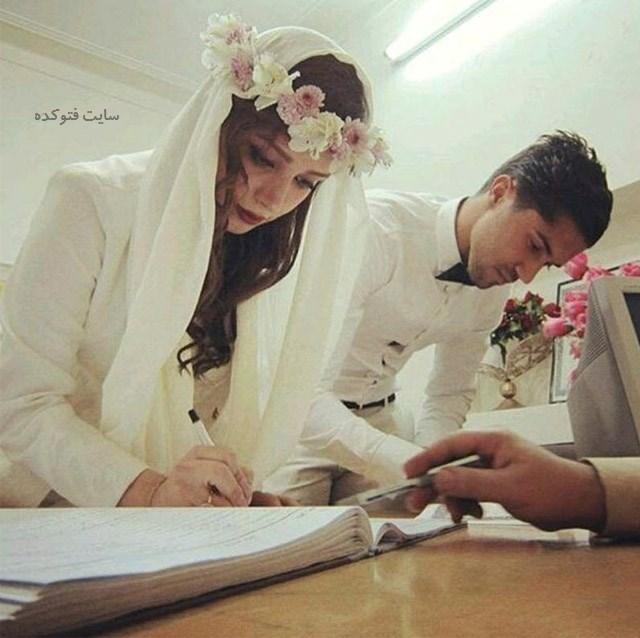 عکسسید حسین حسینی و همسرش + بیوگرافی