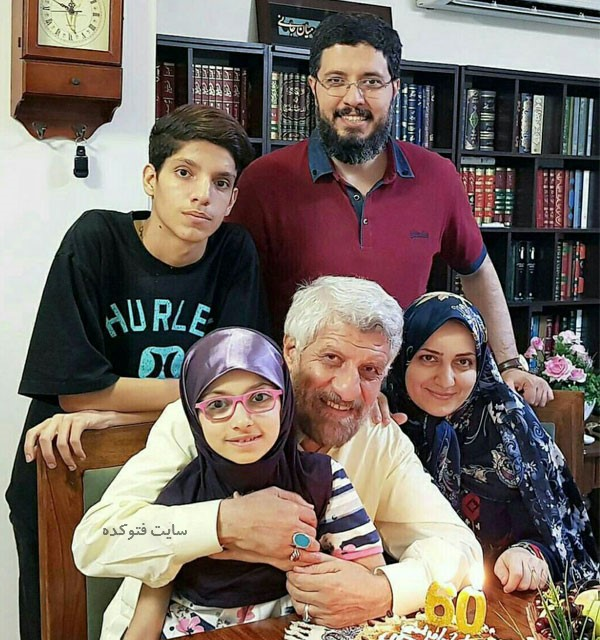 عکس خانوادگی صادق آهنگران بلبل امام خمینی