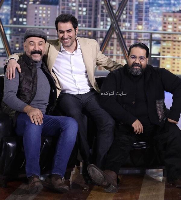 عکس رضا صادقی با علی انصاریان در برنامه همرفیق شهاب حسینی