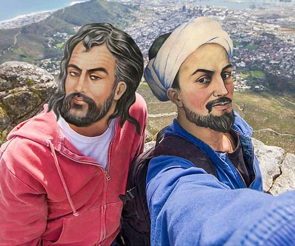عکس جدید سعدی شیرازی و حافظ با داستان زندگی شخصی