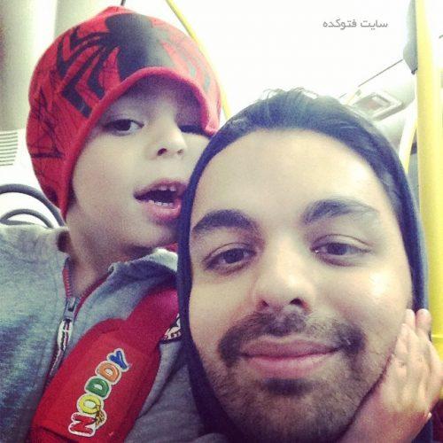 بابک سعیدی و پسرش باران