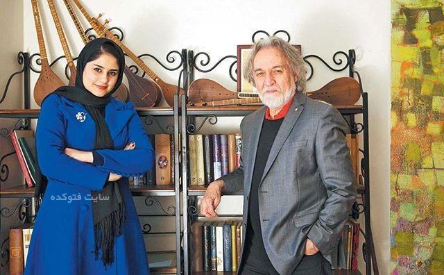 عکس سحر محمدی در کنار استاد مجید درخشانی