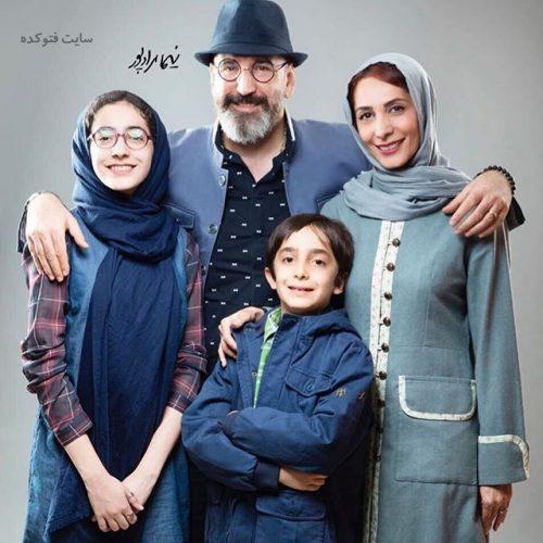 عکس خانوادگی صالح میرزا آقایی و همسر و فرزندان + بیوگرافی کامل