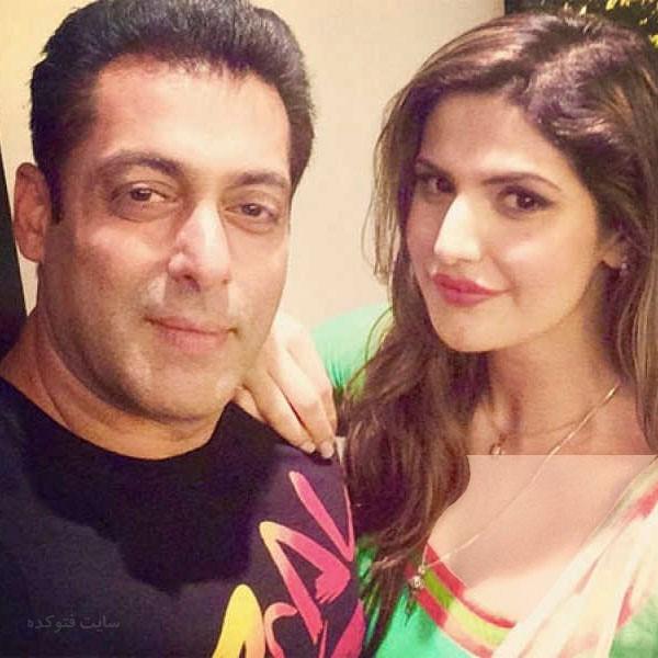 عکس سلمان خان و همسرش زرین خان