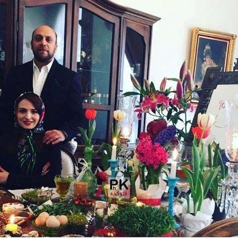 عکس نوروزی گلاره عباسی و همسرش