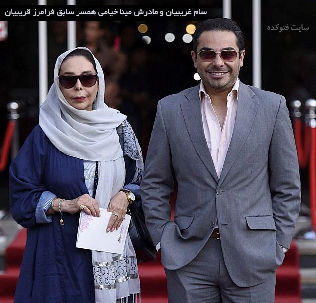 عکس سام پسر و مینا خیامی همسر سابق فرامرز قریبیان