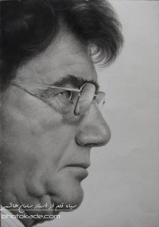 نقاشی سیاه قلم استاد سامان هاشمی,طراحی سیاه قلم,طراحی با مداد,آموزش طراحی چهره,نقاشی چهره,سیاه قلم چهره,آموزش سیاه قلم,عکس سیاه قلم,نقاشی افراد مشهور,قلم