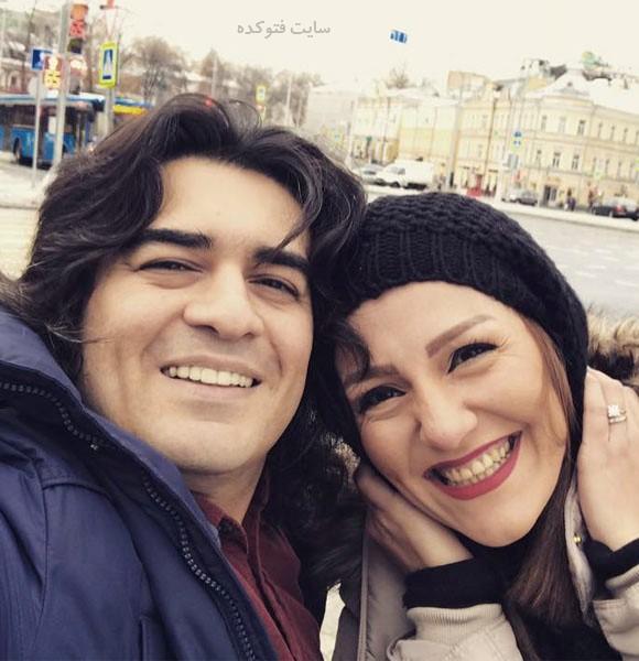 عکس سامان احتشامی و همسرش راز + بیوگرافی