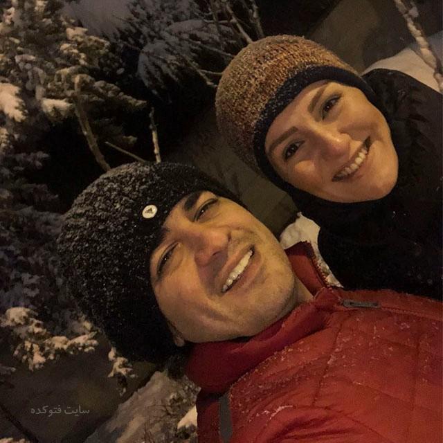 عکس بیوگرافی سامان احتشامی و همسرش