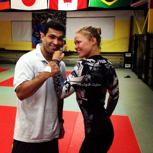 سامان طهماسبی و همسرش
