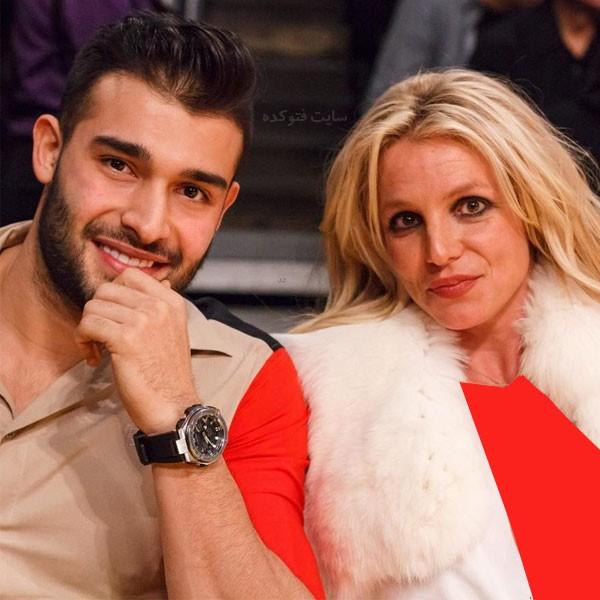 سام اصغری و همسرش بریتنی اسپیرز