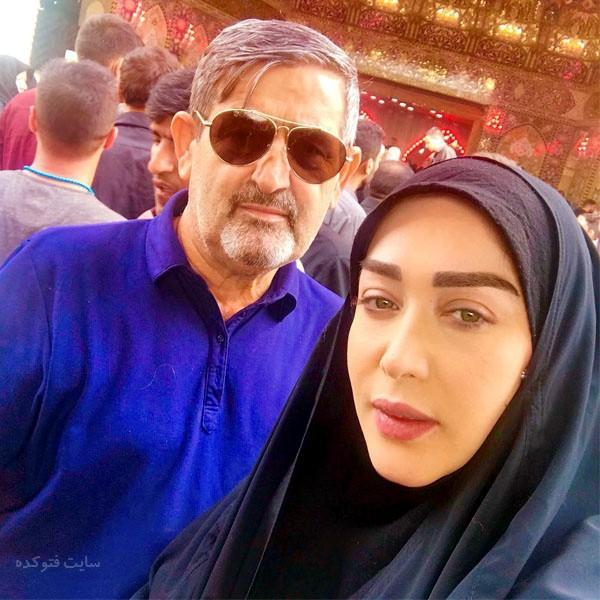 عکس سارا منجزی پور و پدرش + بیوگرافی کامل