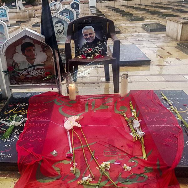 محل دفن سردار سلیمانی